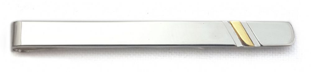 9ct Gold 925 Sterling Silver Tie Slide